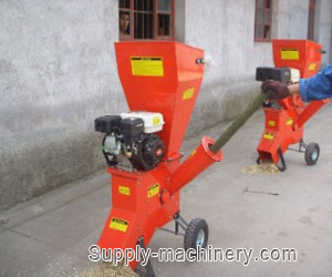 Gasoline Engine Wood Chipper